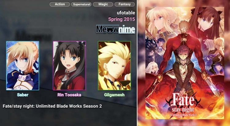 Fate stay night Unlimited Blade Works Season 2